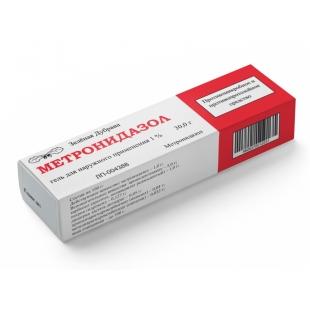 Метронидазол, гель для наружного применения, 30 гр.